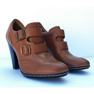 Eurosoft by Sofft Sadira Cognac Leather Heels 8M
